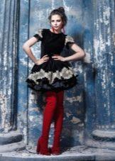 Контрастная обувь под цветное платье