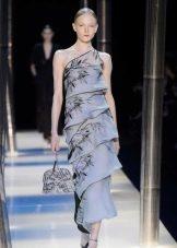Платье цветное смок от Армани