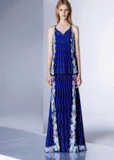 Цветной синий сарафан