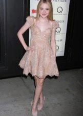 Цветное платье беби долл светлое