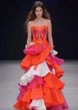 Платье смок цветное
