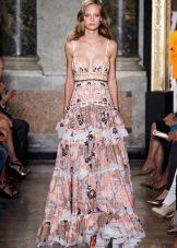 Платье цветное смок в пол от Emilio Pucci