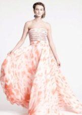 Вечернее цветное платье в пол