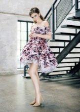 Платье беби долл с приспущеными рукавами