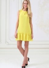 Лунно-желтое платье для блондинки