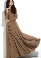 Платье кофейного коричневого цвета