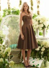 Босоножки под коричневое платье