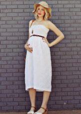 Хлопчатобумажное платье в стиле ампир для беременных