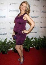 Сиреневое платье для беременных