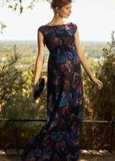 Нарядное шифоновое платье для беременных