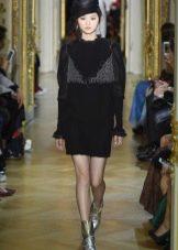 Черное платье от Ульяны Сергеенко короткое