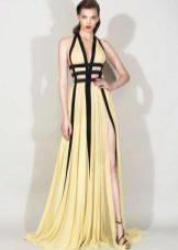 Двухцветное вечернее платье в пол