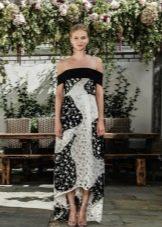 Платье с хаотичным принтом