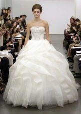 Свадебное платье из органзы пышное