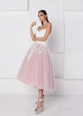 Платье с фиолетовой юбкой из органзы