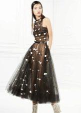 Коктейльное платье из органзы от Йолан Крис