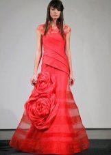 Свадебное красное платье от Веры Вонг