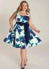 Платье для полных с завышенной талией
