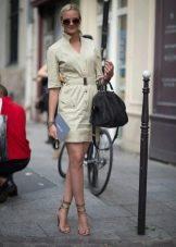 Платье в стиле сафари - офисный вариант