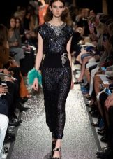Черное платье из лайкры в стиле диско