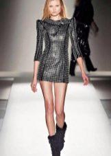 Платье из кожи в стиле диско