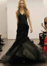 Черное свадебное платье от кутюр