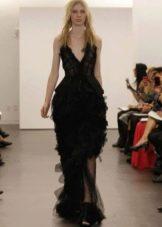 Свадебное платье в черном цвете