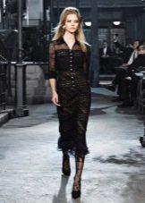 Кружевное платье от Шанель вечернее