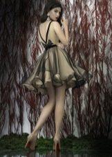 Пышное платье с органзой