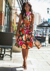 Платье в цветочек на каждый день