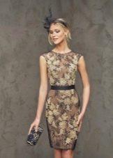 Офисное платье в цветочек от Роза Клары