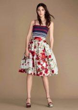 Повседневное платье в цветочек