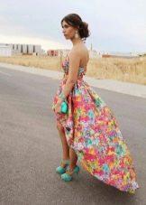 Сережки к платью с цветочным принтом