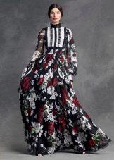 Цветочное платье от Дольче и Габбана
