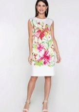 Платье с цветочным принтом на каждый день
