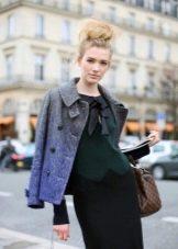 Прическа пучок для платья в деловом стиле