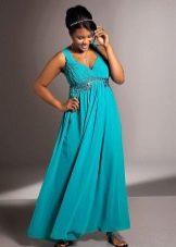 Вечернее платье в греческом стиле для полных
