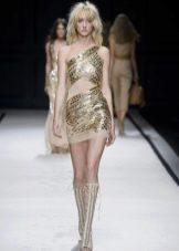 Короткое платье в греческом стиле с золотом