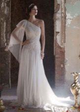 Свадебное платье с кружевом греческое