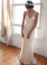 Образ и платье в стиле Гэтсби на свадьбу для невесты