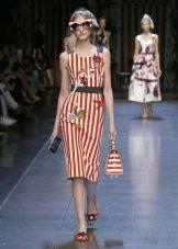 Винтажное платье от Dolce & Gabbana в красную полоску