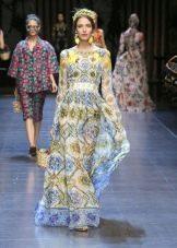Винтажное платье от Dolce & Gabbana в пол