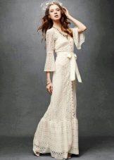 Винтажное свадебное платье в стиле бохо