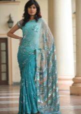 Платье сари в восточном стиле