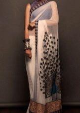 Платье сари с восточным рисунком