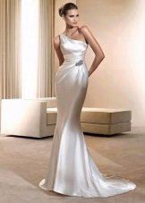 Свадебное шелковое платье в греческом стиле