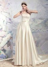 Свадебное шелковое платье