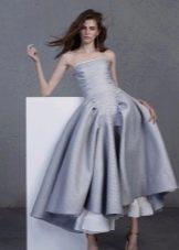 Серое платье мидид
