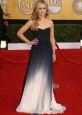 Длинное платье-бюстье в пол без рукава для беременных