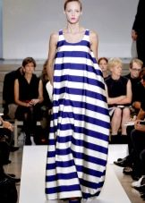Платье мешок  в полоску